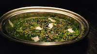 Serving Methi palak with fried jeera and coriander leaves for methi palak recipe