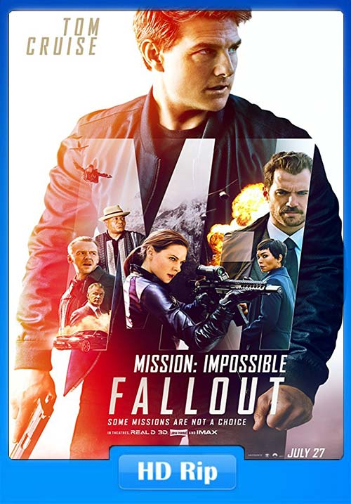 Mission Impossible - Fallout 2018 720p HDRip Multi HQ Line Audo Hindi | 480p 300MB | 100MB HEVC Poster