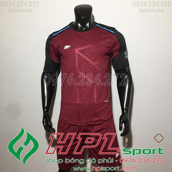 Áo ko logo Eureka Raki màu đỏ đô