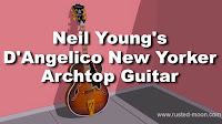 Neil Young D'Angelico New Yorker Arhtop Guitar