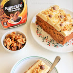 Coffee Walnut Cake Recipe | Coffee Cake with whipped cream frosting | Coffee Whipped Cream Cake