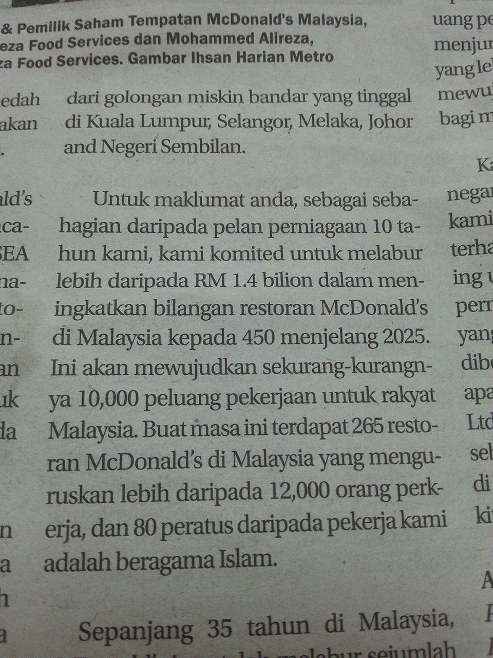 Boikot McDonald's Malaysia: Apa Kata Mufti Wilayah Persekutuan?