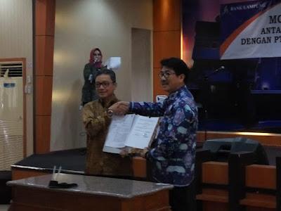 Pemprov dan Bank Lampung Tandatangani MOU Aplikasi e-Budgeting