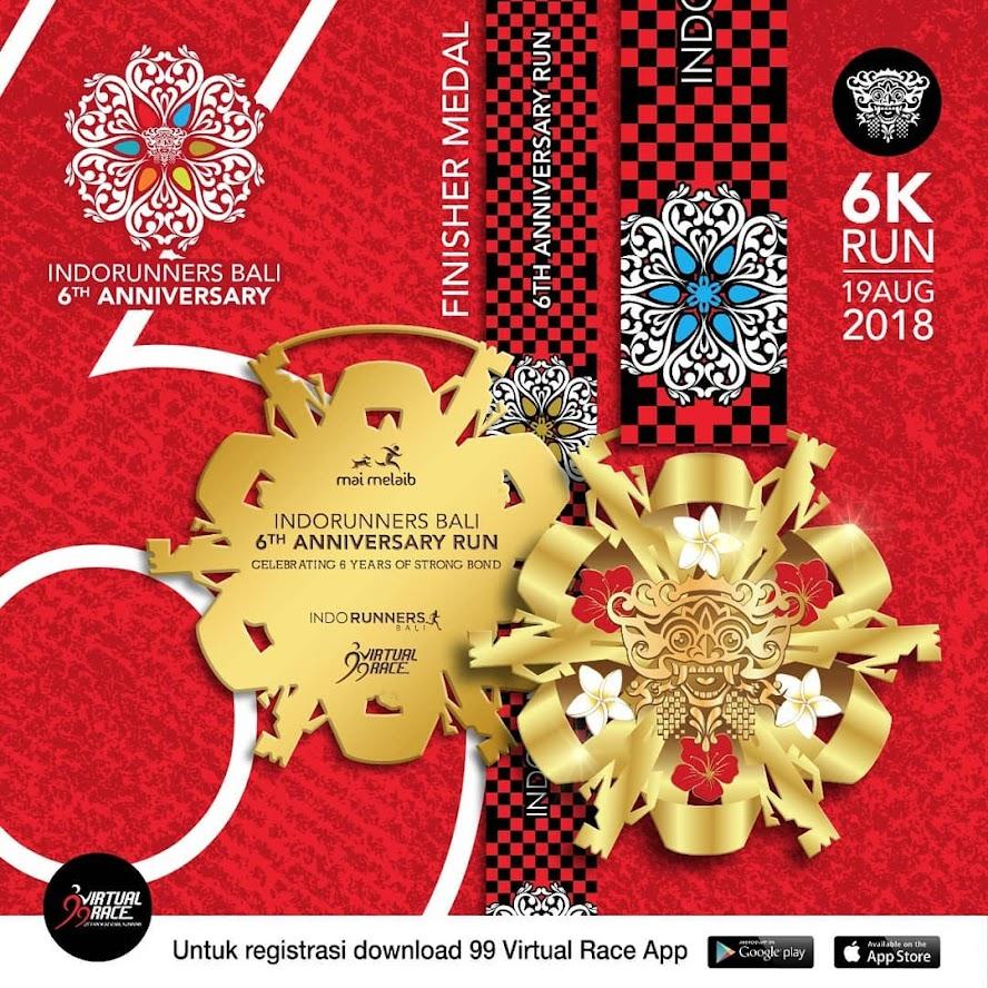 IndoRunners Bali 6th Anniversary Run • 2018 Medali