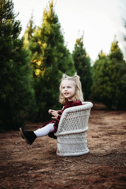 Child laughing while being photographed for Christmas Minis in San Diego