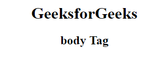 penggunaan tag body pada html