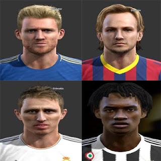 Faces: Schurrle, Rakitic, Modric, Cuadrado, Pes 2013