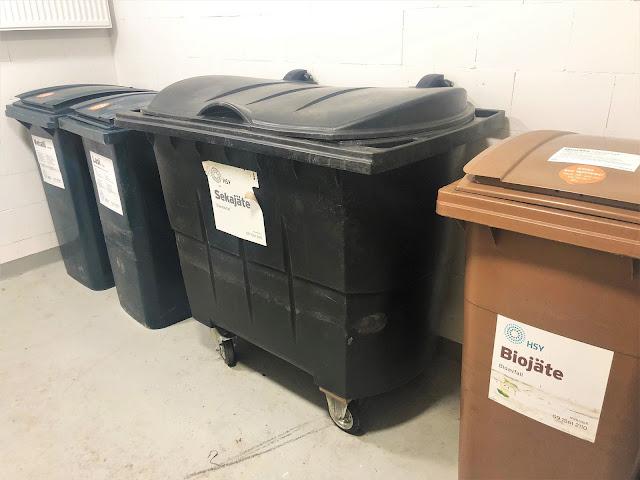 Pienen taloyhtiön jätehuoneen suurenmoiset astiat vol 1