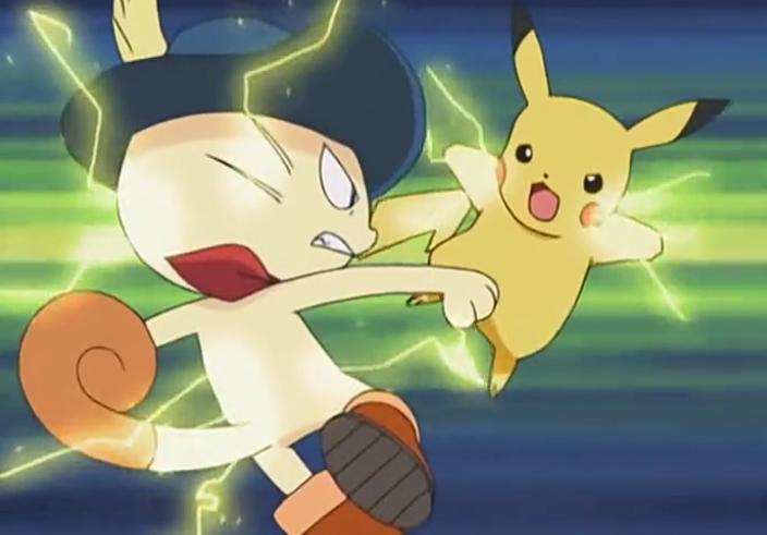 Batalha Pikachu e Meowth de Botas