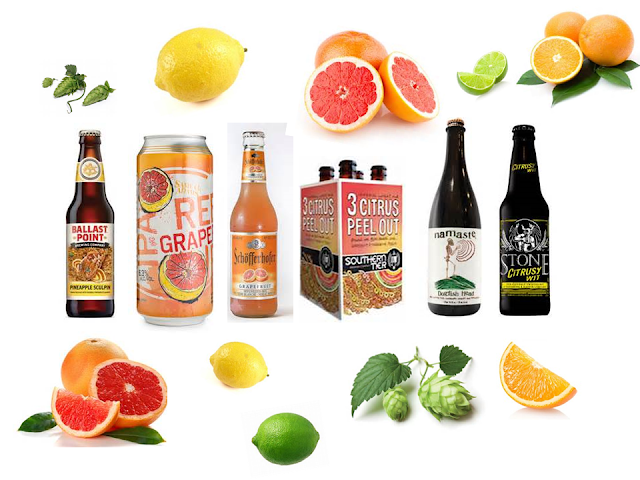 An image of citrus beers