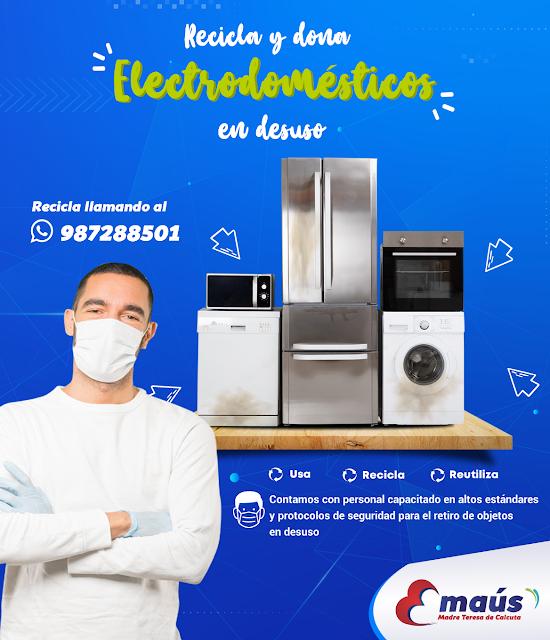 Recicla y dona electrodoméstico en desuso