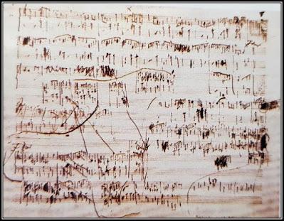 Χειρόγραφη παρτιτούρα του Σοπέν