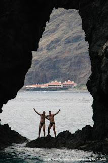 Saludando desde la base del Roque Bonanza