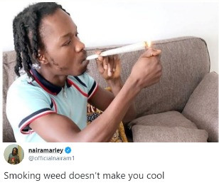 I Smoke weed it makes me cool'' Naira Marley