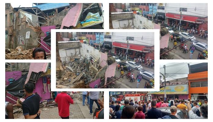 bff129695520a O teto de uma loja de confecção desabou na manhã desta terça-feira (14), no  final da Avenida Cinquentenário, em frente ao Shopping 10, Centro de Itabuna .