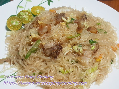 Pansit Bihon with Vigan Bagnet