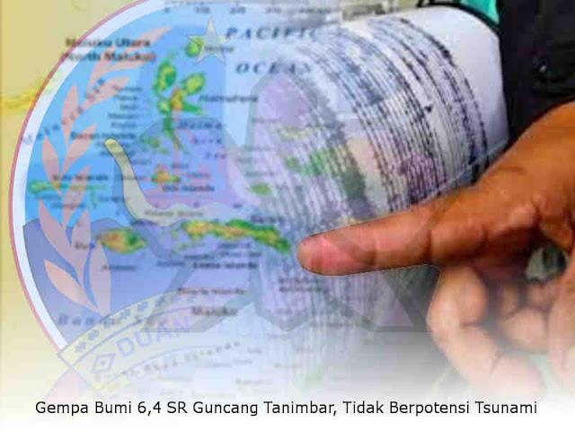 Gempa Bumi 6,4 SR Guncang Tanimbar, Tidak Berpotensi Tsunami