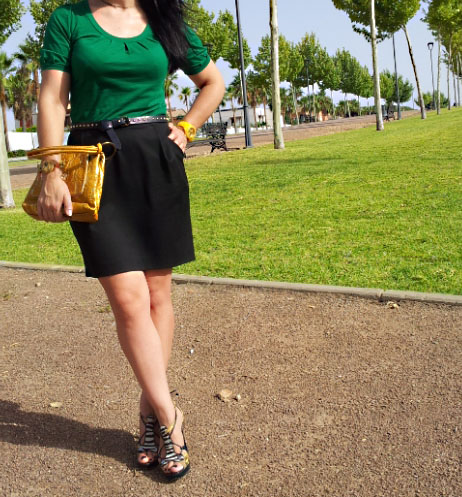 green+black+look