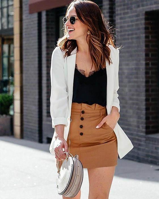 outfit casual con bralette elegante