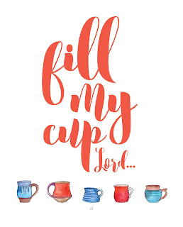 LostBumblebee 2016 MDBN Fill My Cup Lord, Printable, Home Decor, Uplifting, Coffee : PERSONAL USE ONLY! www.lostbumblebee.net