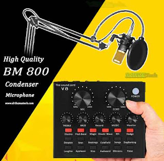 Sound Card Audio Interface for bm 800 Studio Microphone for Computer