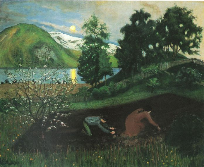 'Vårnatt i hagen' or 'Spring Night in the Garden.' Image: WikiMedia.org.