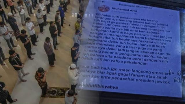 Hina Jokowi karena Tolak Imbauan Jaga Jarak Sholat Berjamaah, Pria di Jakut Ditangkap