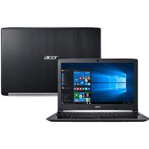 "Notebook Acer A515-51G-58VH Intel Core I5 8GB (GeForce 940MX com 2GB) 1TB Tela LED 15.6"" Windows 10 - Preto"