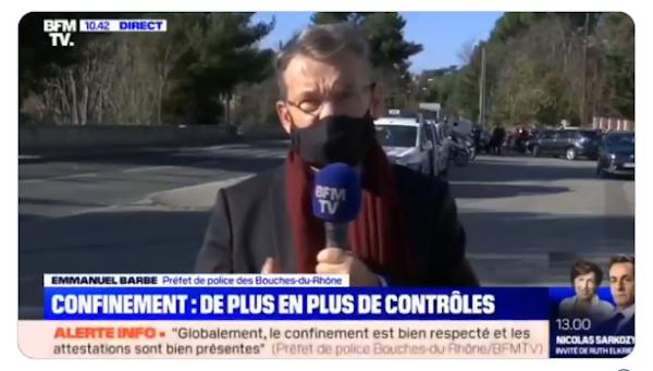Scène de guerre à Marseille et attestation dérogatoire obligatoire