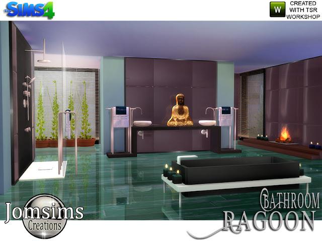 Ragoon Zen Ванная комната для The Sims 4 Как насчет вас, ванна, лепестки роз. Рядом теплый огонь, несколько свечей. 1 ванна, поднять землю. 4 оттенка. раковина направо и налево, 4 оттенка. Я положил слоты, чтобы положить украшения полотенца. 1 душ со стеклянной стеной. Симы могут немного прикоснуться к стеклянной части. Если вы положите полотенца, как я, это не коснется стены, но слегка полотенца. 1 отражающая стена. Положить против стены. Вы можете использовать код. bb.Moveobjects. Но не обязательно везде. 1 камин, 2 ступени эффекта. Вы можете поставить деку. Есть слоты для размещения. Итак, ковер из дерева, для использования на зеркальном полу. Создано Bruja. ссылка в кредит. 1 золото Будды. Создайте свой угол дзен. Автор: jomsim
