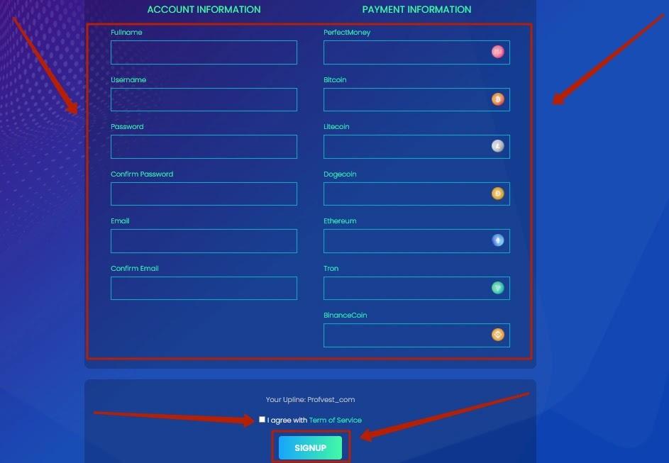 Регистрация в Bitneo 2