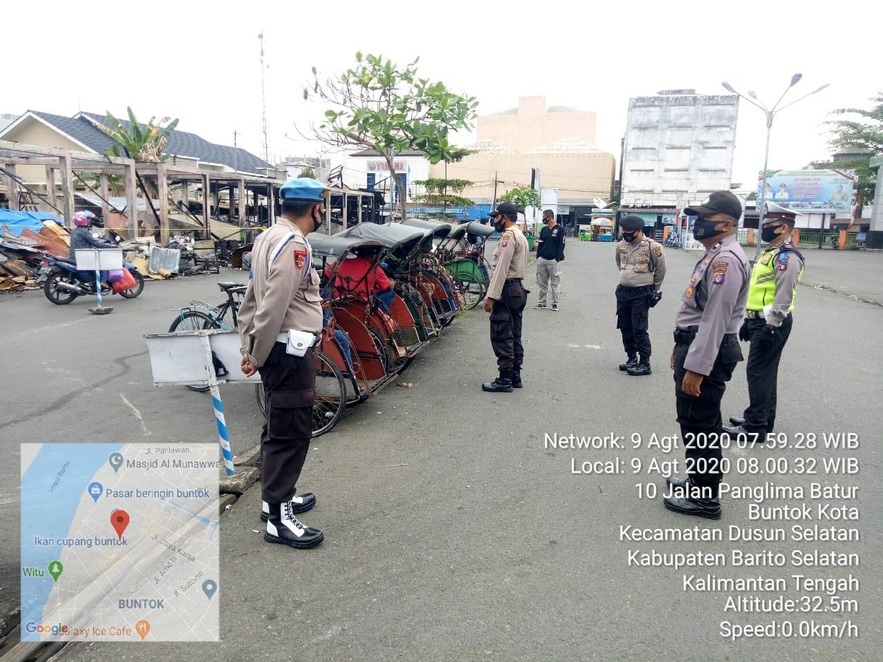 Gelar Patroli Pendisiplinan, Personel KRYD Polres Barsel Sambangi Pasar