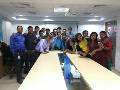 Biswajit with other team members at Airtel