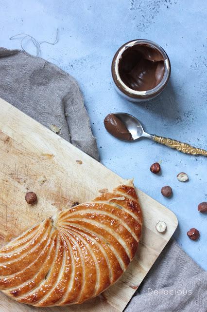 recette de galette végétale aux noisettes et à la pâte à tartiner