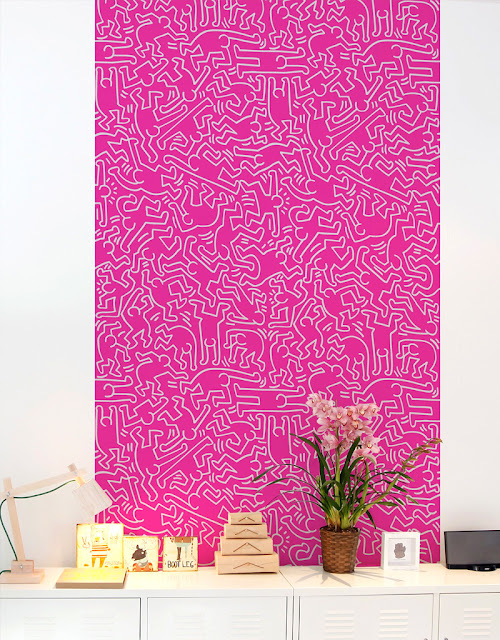 Keith Haring Pink Dancers - Giant Wall tiles