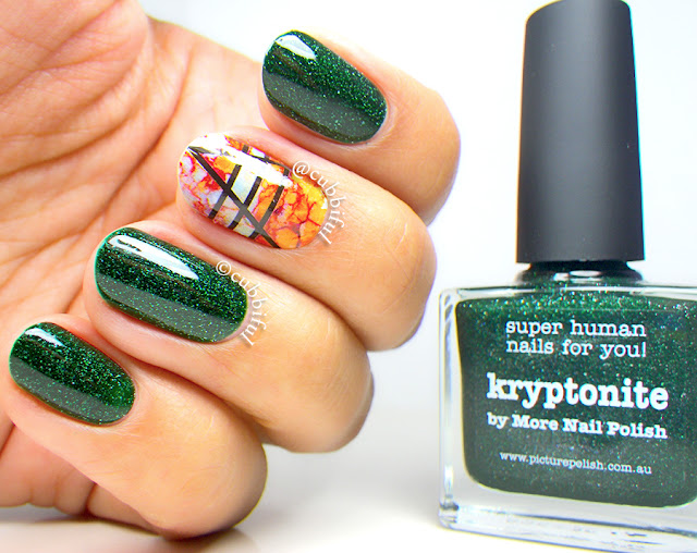 piCture pOlish Kryptonite and ThumbUp Roco Nail Wraps