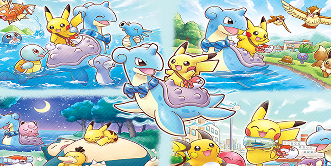 Join Pikachu and Lapras on Their Adventures!