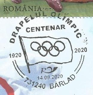 Stampila aniversara Centenarul drapelului olimpic