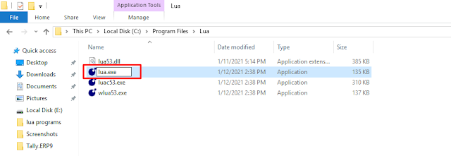 Lua download and installation tutorial for Windows 10