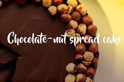 Chocolate-nut spread cake