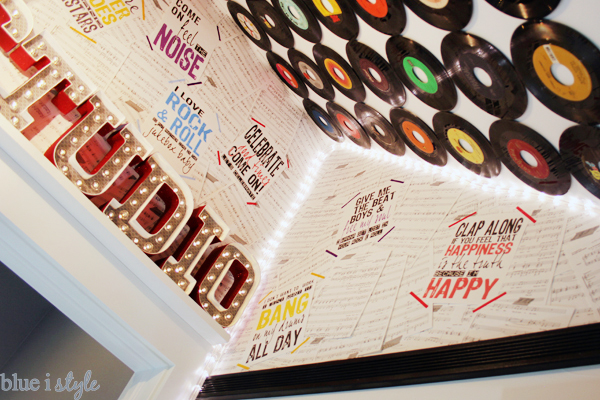 Rock & Roll Collage Wall