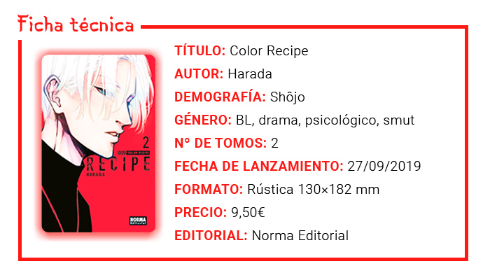Reseña manga - Color Recipe (Harada) - Norma Editorial - Ficha técnica