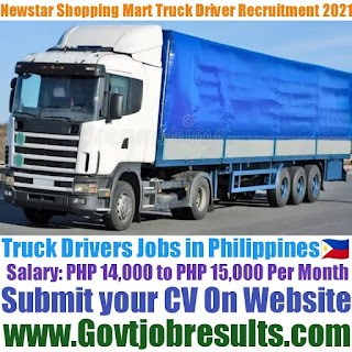 Newstar Shopping Mart Delivery Truck Driver Recruitment 2021-22