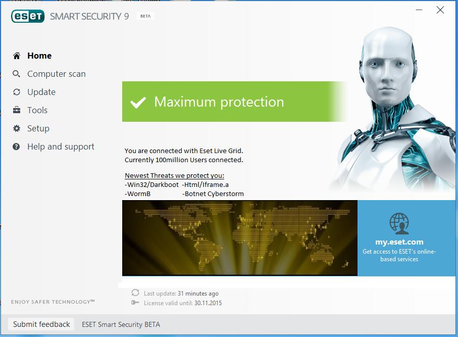 eset smart security 9 serial key 2018