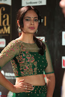 Nandita Swetha in a tight Green Choli Ghagra at IIFA Utsavam Awards March 2017 ~ 048.JPG