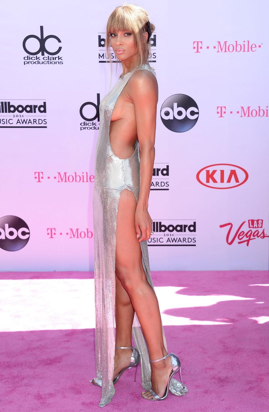 Ciara flaunts sideboob at the Billboard Music Awards 2016
