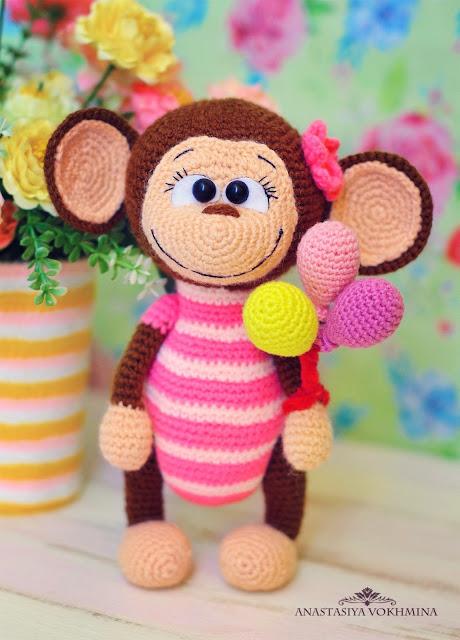 Amigurumi Patterns Monkey : Amigurumi monkey free pattern patterns