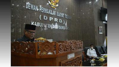 Paripurna DPRD Deli Serdang Mengesahkan 16 Ranperda Masuk Ke Dalam Propemperda