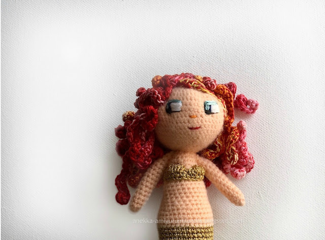 mermaid doll handmade