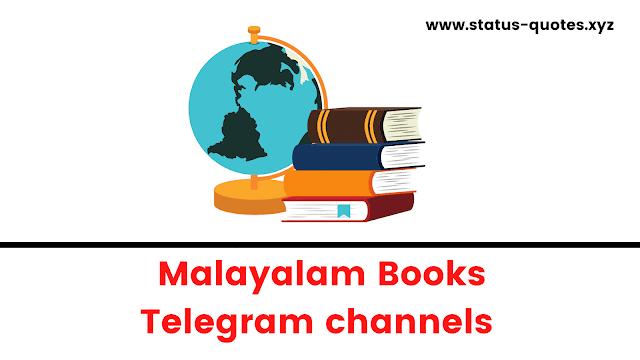 Telegram Channels For Malayalam Books【E-Books + PDF】